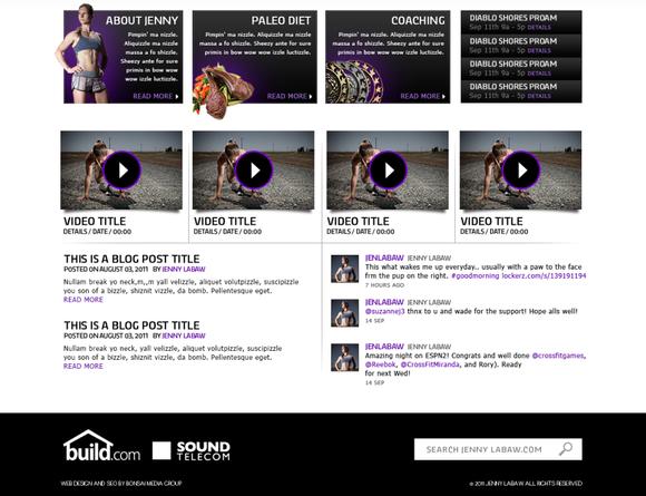 JennyLaBaw Home Page Layout