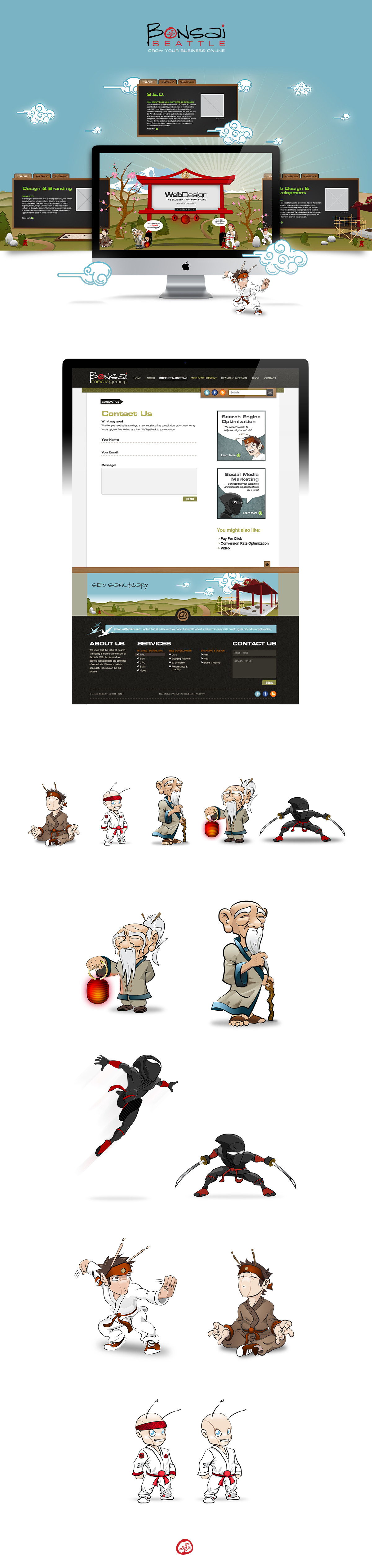 Full Home Page Parallax Layout
