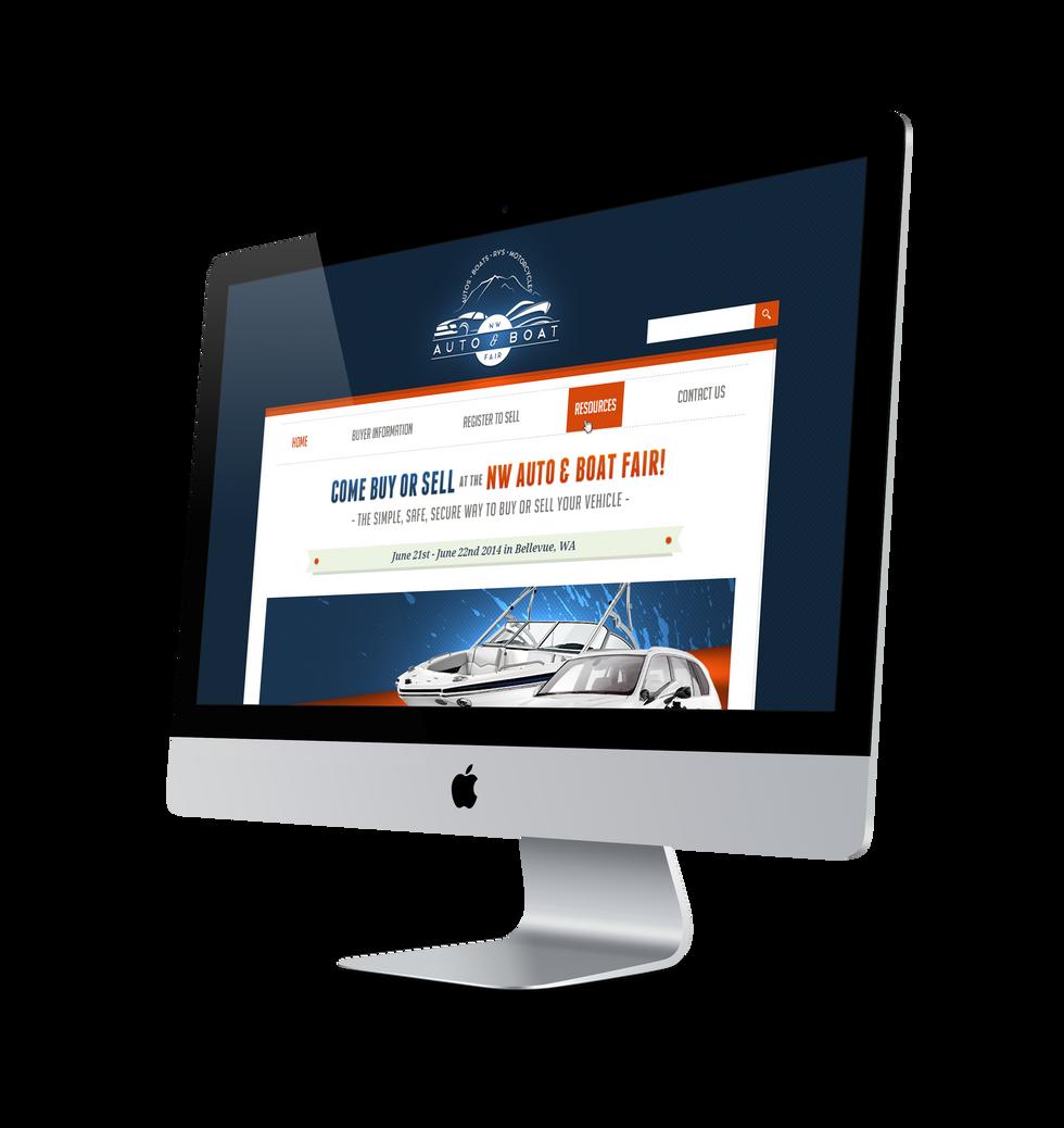 NW Auto & Boat Desktop Display