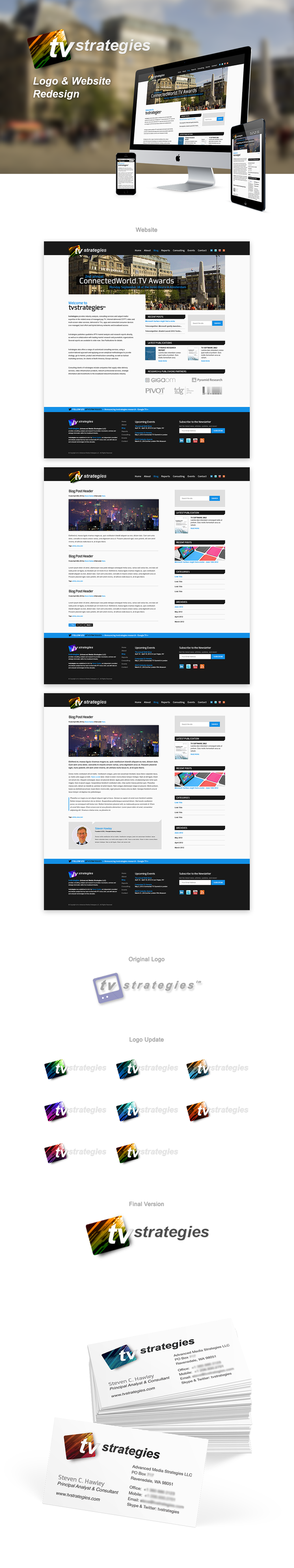 TVStrategies Website and Identity Update