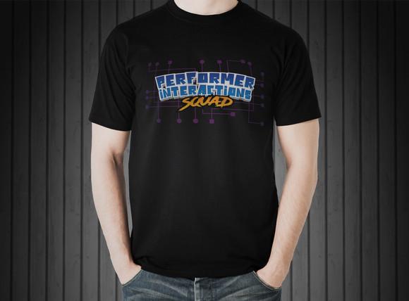 Performer Interaction Rough Logo T-Shirt Mockup