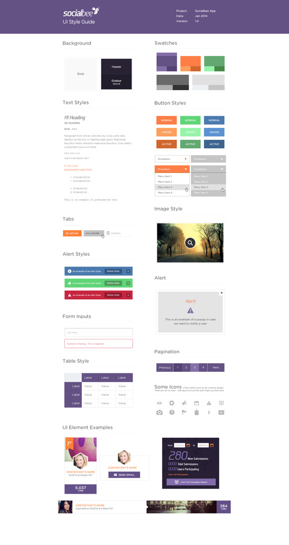 SocialBee App UI Components