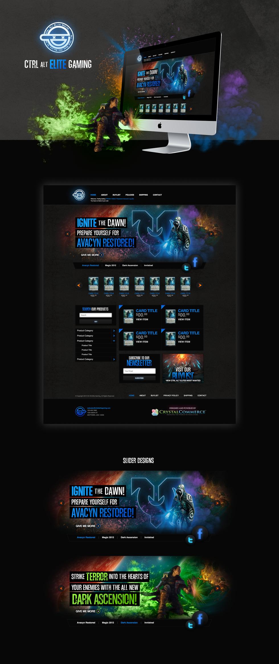 CtrlAltElite Home Page and Hero Slides