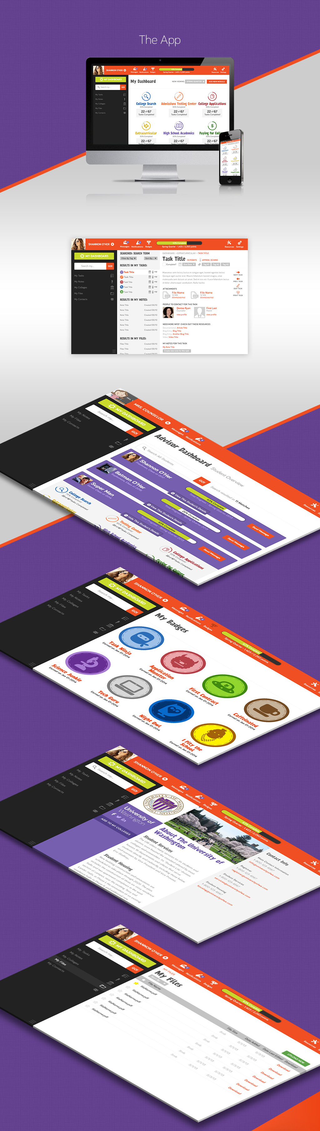 Frosh Monster App Screens