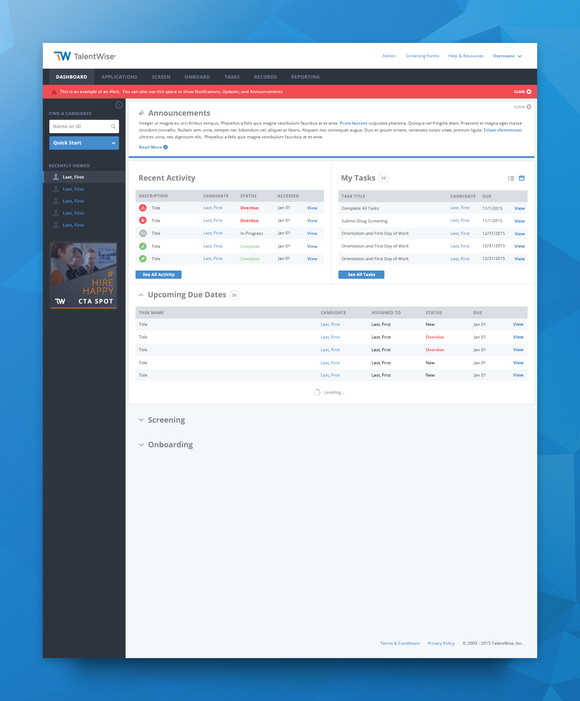 TalentWise Dashboard Update