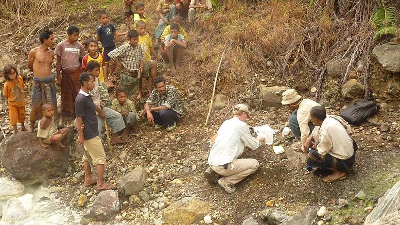 geothermal exploration, water sampling, Indonesia