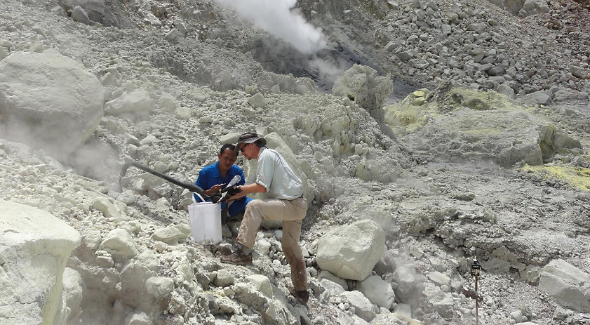 geothermal exploration, gas sampling, Indonesia