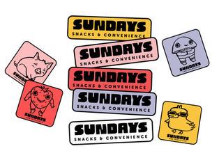 Sundays Sticker Designs