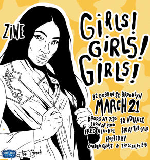 """Girls! Girls! Girls!"" Ziwe Promotional Poster"