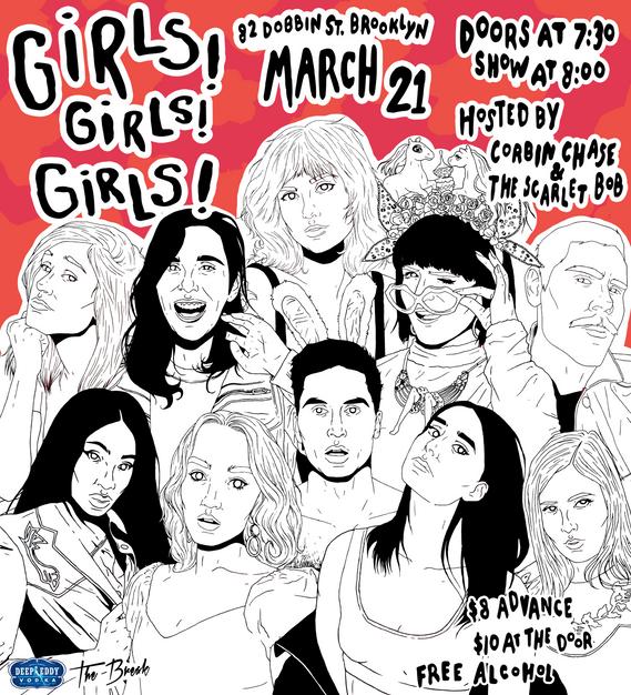 """Girls! Girls! Girls!"" Promotional Poster"