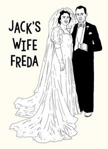Jack's Wife Freda Postcard Design
