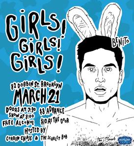 """Girls! Girls! Girls!"" Benny Promotional Poster"
