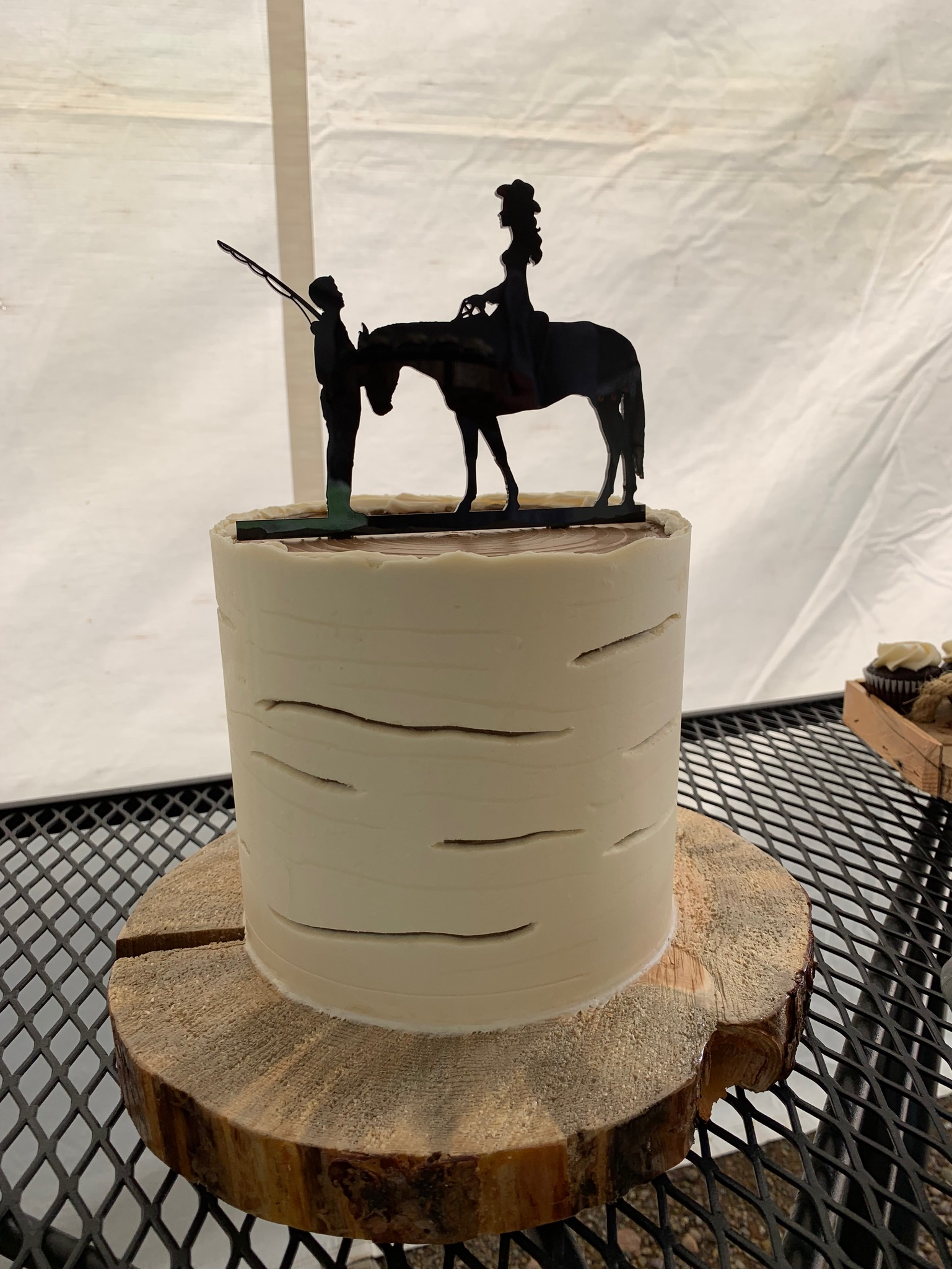 Birch Stump Wedding Cake