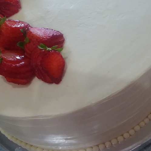 Chardonnay Strawberry Rhubarb Cake