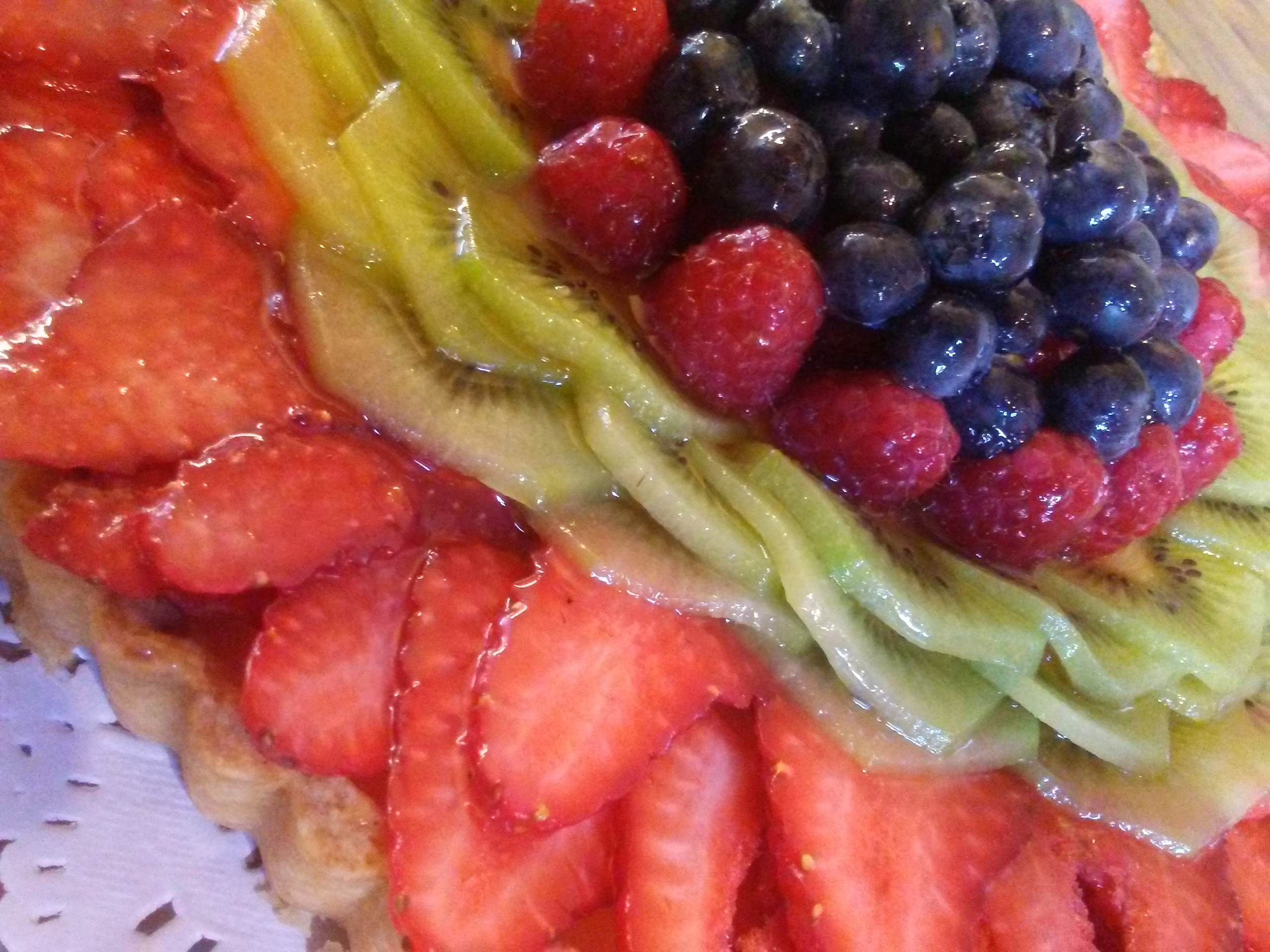 Vanilla Bean Pastry Cream Tart with Fresh Fruit