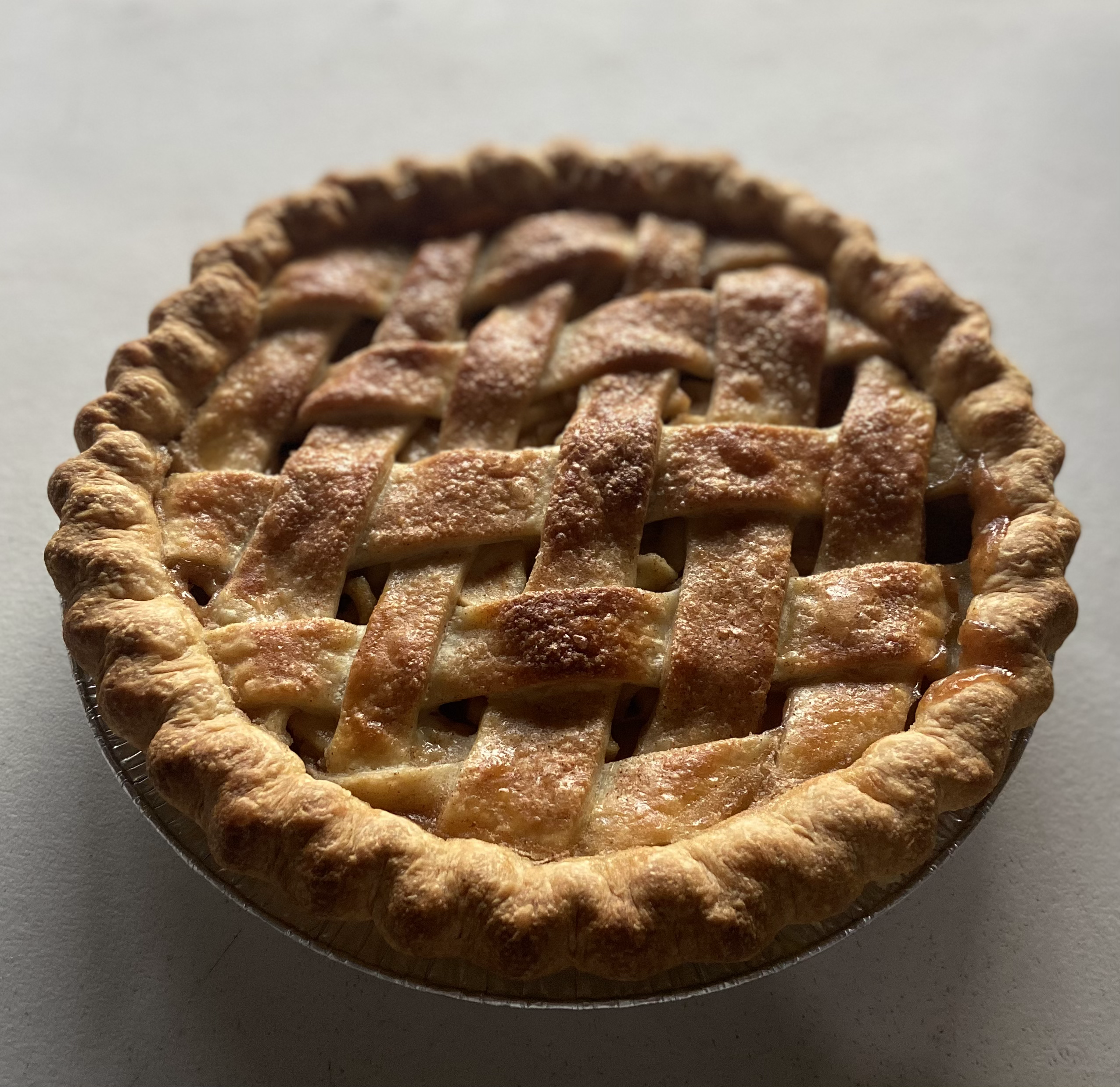 Latticed Apple Pie