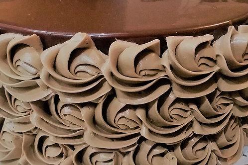 Chocolate Baby Roses Cake