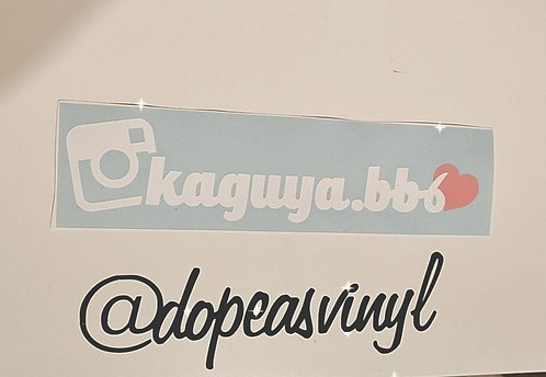 Instagram decal with heart