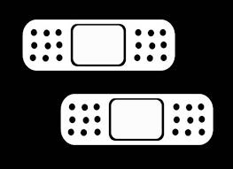 Bandaid Decal x 2