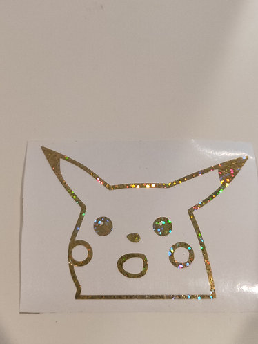 Gasp Pikachu Meme Decal