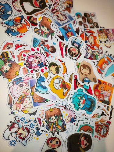 Lucky dip diary stickers (anime)