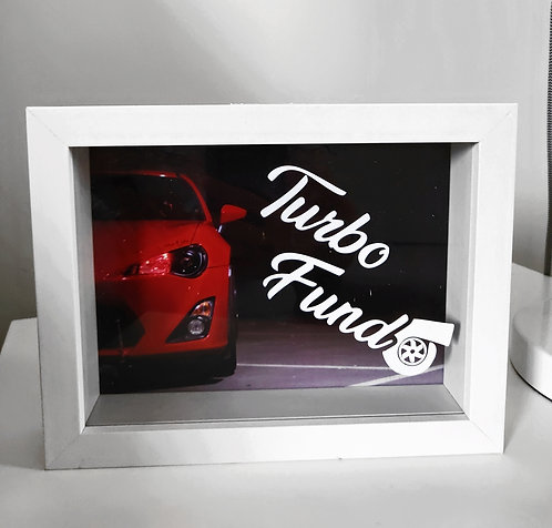 """TURBO FUND"" Custom Money Shadow Box"