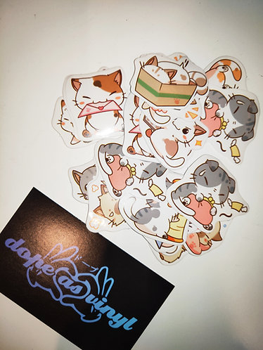 Japanese kitten lucky dip stickers