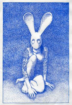 CABINET ÉROTIQUE Ensemble de dessins Série : Mina et Moi 2020 Pointe acrylique sur papier dessin de