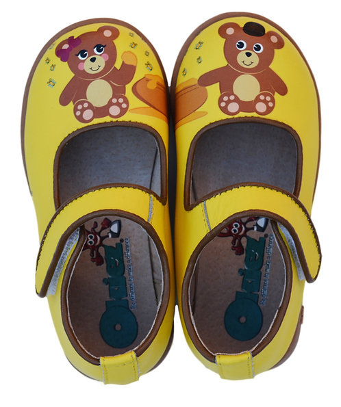 Teddy Bears  - Yellow & Brown Shoes