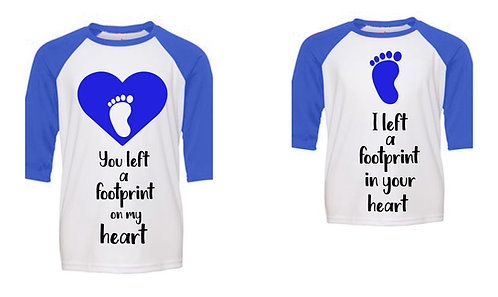 Parent-Child connection -Footprint  Heart Design