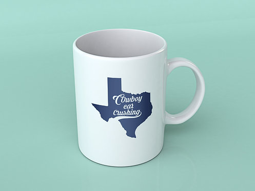 Cowboy Car Crushing Cup with Tx Map