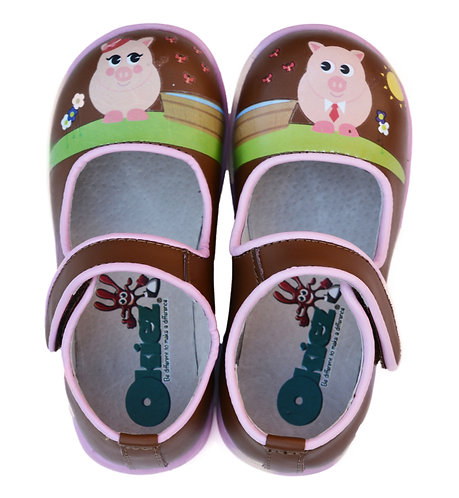 Piggies - Brown & Pink Shoes