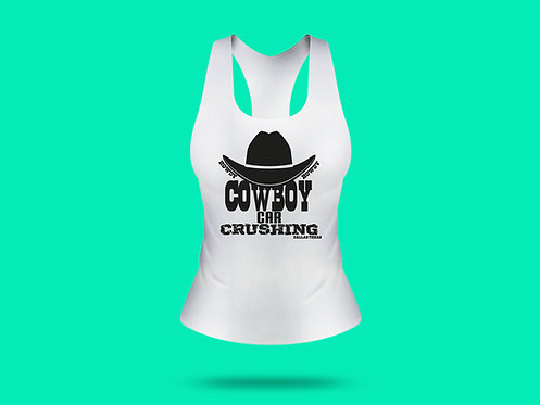 Cowboy Car Crushing with Car - Women Tank Top