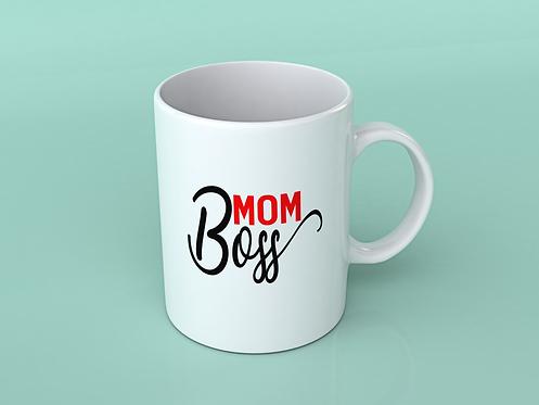 Mom Boss Coffee / Tea Mug (White)