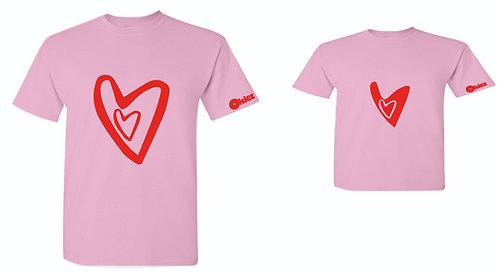 Parent-Child Valentine's T-shirts