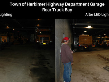 "Town of Herkimer Highway Department Garage Lighting ""Before & After"" Photos"
