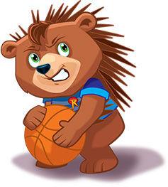 Riley the Brav as a porcupine