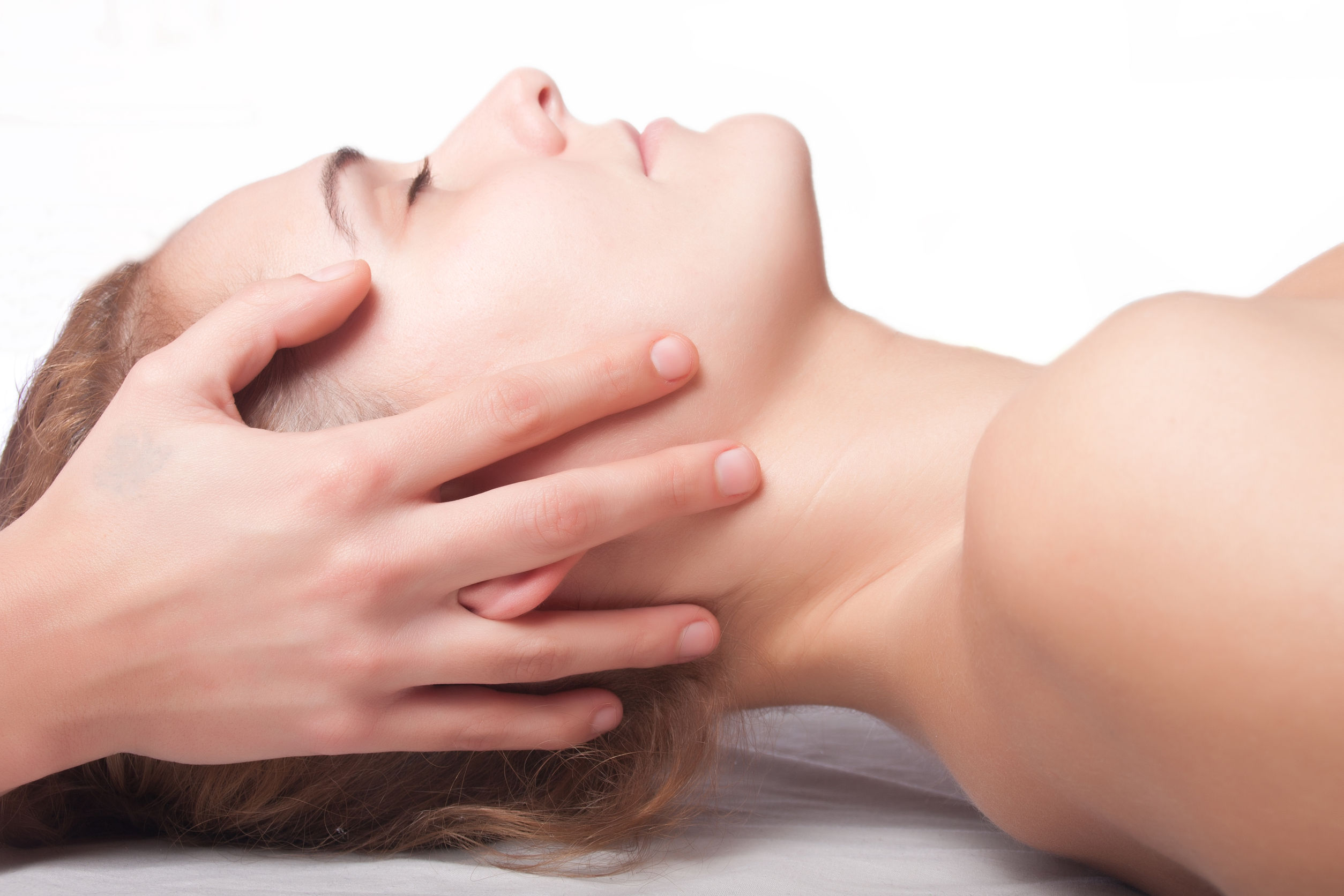 cranial osteopathy on a woman