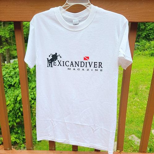 Mexicandiver Magazine... T-Shirt (White)