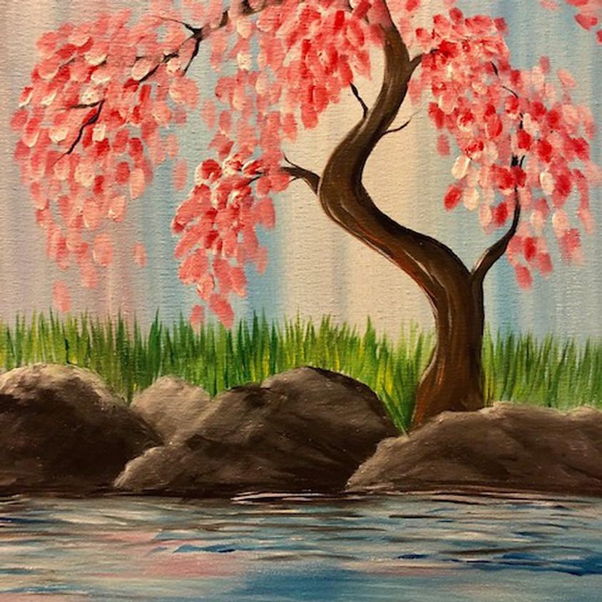 Cherry Blossom Paint Nite