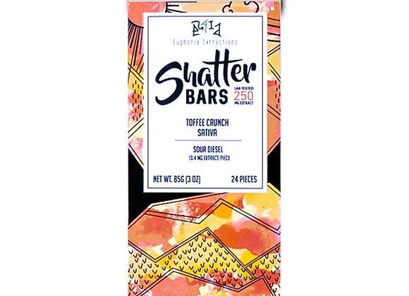 Toffee Crunch Sativa Shatter Bar