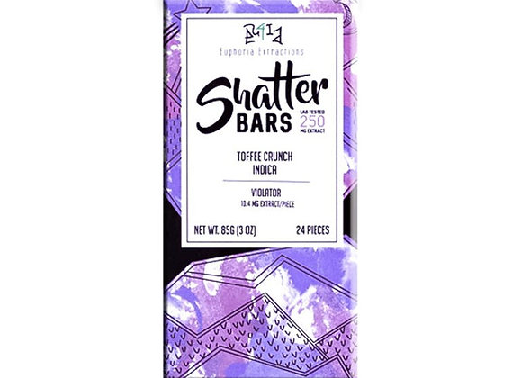 Toffee Crunch Indica Shatter Bar