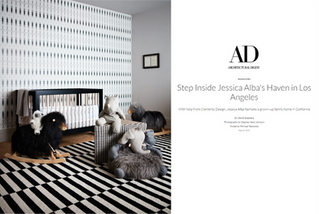 Architectural Digest: Jessica Alba & Cash Warren's Nursery (2019)