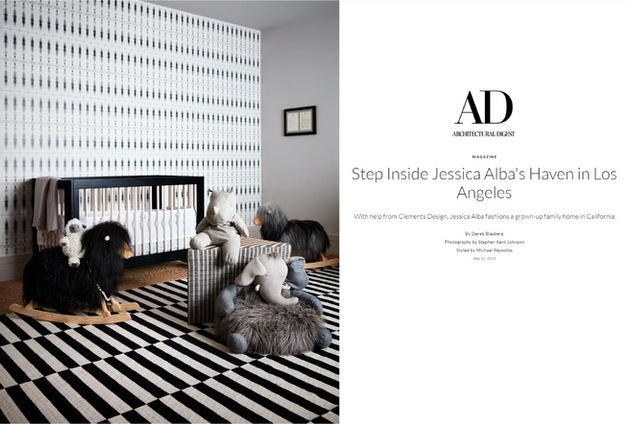 Architectural Digest: Jessica Alba & Cash Warren's Nursery (2019)