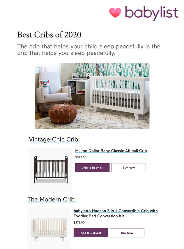 Babylist: Best Cribs (2020)