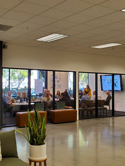 Julia, our VP of Operations, hosts a Vistage discussion group in our office