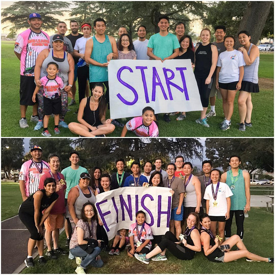 5k run supporting breast cancer