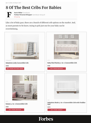 Forbes: 8 of The Best Cribs for Babies (2020)