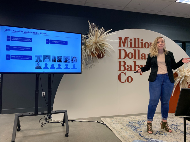 Quarterly presentations: Sierra kicking off our sustainability efforts