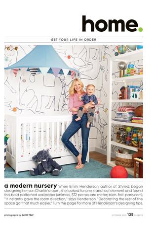 Parents Magazine: Emily Henderson's Nursery (2015)